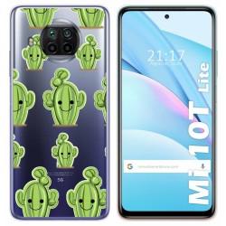 Funda Gel Transparente para Xiaomi Mi 10T Lite diseño Cactus Dibujos