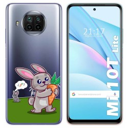 Funda Gel Transparente para Xiaomi Mi 10T Lite diseño Conejo Dibujos