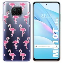 Funda Gel Transparente para Xiaomi Mi 10T Lite diseño Flamenco Dibujos