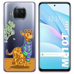Funda Gel Transparente para Xiaomi Mi 10T Lite diseño Jirafa Dibujos