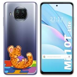 Funda Gel Transparente para Xiaomi Mi 10T Lite diseño Leopardo Dibujos