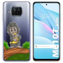 Funda Gel Transparente para Xiaomi Mi 10T Lite diseño Mono Dibujos