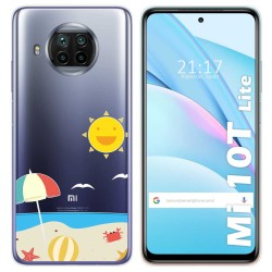 Funda Gel Transparente para Xiaomi Mi 10T Lite diseño Playa Dibujos