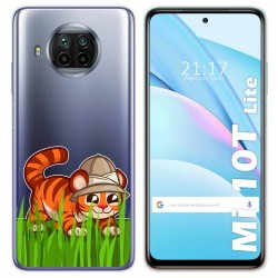 Funda Gel Transparente para Xiaomi Mi 10T Lite diseño Tigre Dibujos