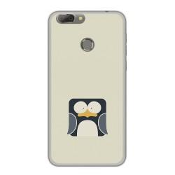 Funda Gel Tpu para Oukitel U20 Plus Diseño Pingüino Dibujos