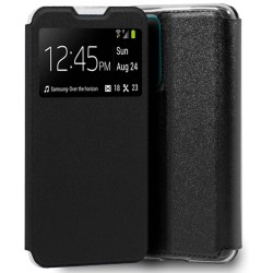 Funda Libro Soporte con Ventana para Huawei P Smart 2021 Color Negra