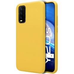 Funda Silicona Líquida Ultra Suave para Vivo Y20s / Y11s color Amarilla