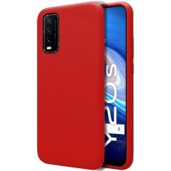 Funda Silicona Líquida Ultra Suave para Vivo Y20s / Y11s color Roja