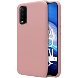 Funda Silicona Líquida Ultra Suave para Vivo Y20s / Y11s color Rosa