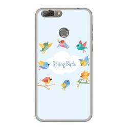 Funda Gel Tpu para Oukitel U20 Plus Diseño Spring Birds Dibujos