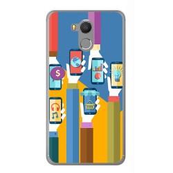 Funda Gel Tpu para Oukitel U15 / U15 Pro Diseño Apps Dibujos