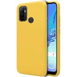 Funda Silicona Líquida Ultra Suave para Oppo A53 / A53s color Amarilla
