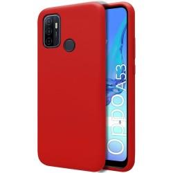 Funda Silicona Líquida Ultra Suave para Oppo A53 / A53s color Roja