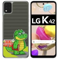 Funda Gel Transparente para LG K42 diseño Coco Dibujos