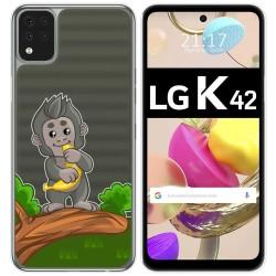 Funda Gel Transparente para LG K42 diseño Mono Dibujos