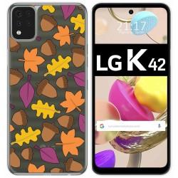 Funda Gel Transparente para LG K42 diseño Otoño Dibujos