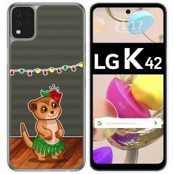 Funda Gel Transparente para LG K42 diseño Suricata Dibujos
