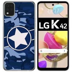 Funda Gel Tpu para LG K42 diseño Camuflaje 03 Dibujos