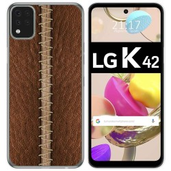Funda Gel Tpu para LG K42 diseño Cuero 01 Dibujos