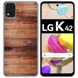Funda Gel Tpu para LG K42 diseño Madera 02 Dibujos