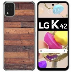 Funda Gel Tpu para LG K42 diseño Madera 03 Dibujos