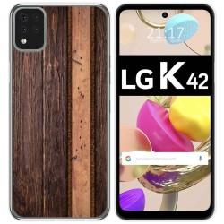 Funda Gel Tpu para LG K42 diseño Madera 05 Dibujos