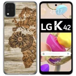 Funda Gel Tpu para LG K42 diseño Madera 07 Dibujos