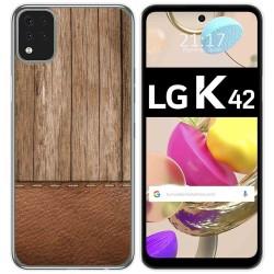 Funda Gel Tpu para LG K42 diseño Madera 09 Dibujos