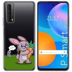 Funda Gel Transparente para Huawei P Smart 2021 diseño Conejo Dibujos