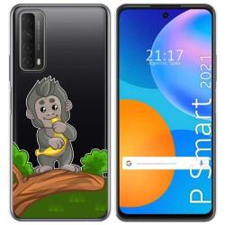 Funda Gel Transparente para Huawei P Smart 2021 diseño Mono Dibujos