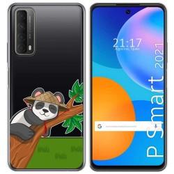 Funda Gel Transparente para Huawei P Smart 2021 diseño Panda Dibujos