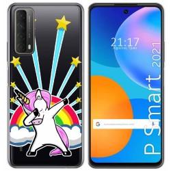Funda Gel Transparente para Huawei P Smart 2021 diseño Unicornio Dibujos