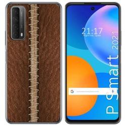 Funda Gel Tpu para Huawei P Smart 2021 diseño Cuero 01 Dibujos