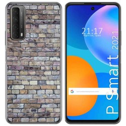 Funda Gel Tpu para Huawei P Smart 2021 diseño Ladrillo 02 Dibujos