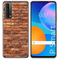 Funda Gel Tpu para Huawei P Smart 2021 diseño Ladrillo 04 Dibujos