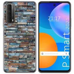 Funda Gel Tpu para Huawei P Smart 2021 diseño Ladrillo 05 Dibujos