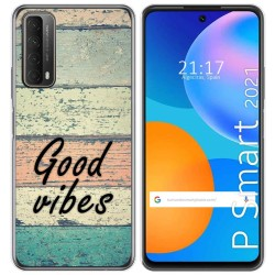 Funda Gel Tpu para Huawei P Smart 2021 diseño Madera 01 Dibujos