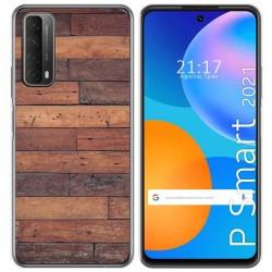 Funda Gel Tpu para Huawei P Smart 2021 diseño Madera 03 Dibujos