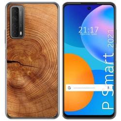 Funda Gel Tpu para Huawei P Smart 2021 diseño Madera 04 Dibujos