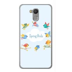 Funda Gel Tpu para Oukitel U15 / U15 Pro Diseño Spring Birds Dibujos