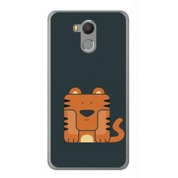 Funda Gel Tpu para Oukitel U15 / U15 Pro Diseño Tigre Dibujos