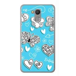 Funda Gel Tpu para Oukitel U15 / U15 Pro Diseño Mariposas Dibujos