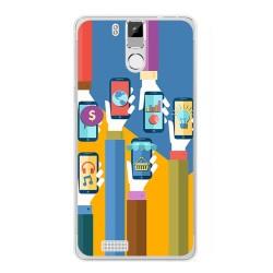Funda Gel Tpu para Oukitel K6000 / K6000 Pro Diseño Apps Dibujos