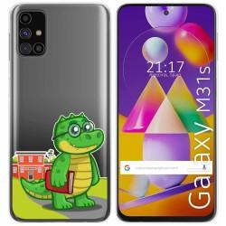 Funda Gel Transparente para Samsung Galaxy M31s diseño Coco Dibujos