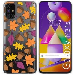 Funda Gel Transparente para Samsung Galaxy M31s diseño Otoño Dibujos