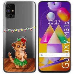 Funda Gel Transparente para Samsung Galaxy M31s diseño Suricata Dibujos