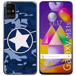 Funda Gel Tpu para Samsung Galaxy M31s diseño Camuflaje 03 Dibujos