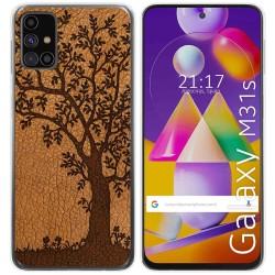 Funda Gel Tpu para Samsung Galaxy M31s diseño Cuero 03 Dibujos
