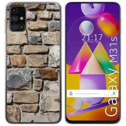 Funda Gel Tpu para Samsung Galaxy M31s diseño Ladrillo 03 Dibujos