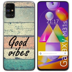 Funda Gel Tpu para Samsung Galaxy M31s diseño Madera 01 Dibujos